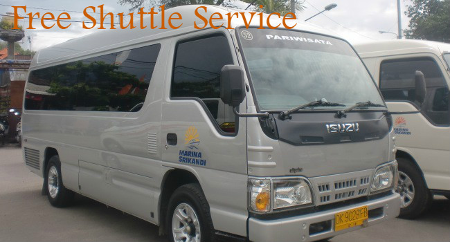 Free shuttle service in some specific areas in Bali and Nusa Lembongan