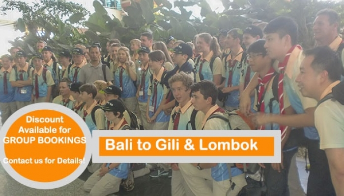 Set up your own group & let us arrange your trip Bali to Gili and Lombok