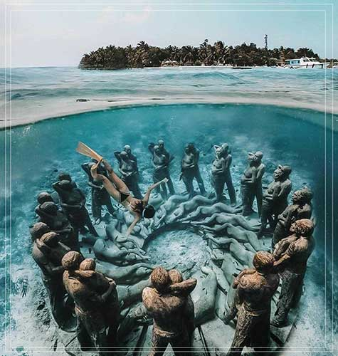 Underwater Sculpture Gili Meno